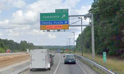 wv interstate 64 west virginia i64 beckley rest area mile marker 45 eastbound off ramp exit