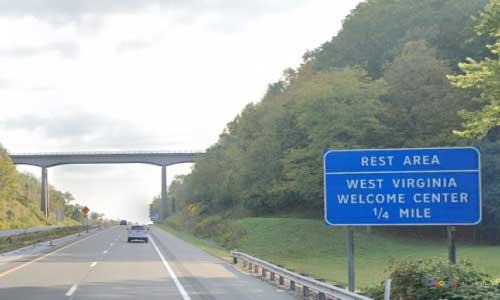 wv interstate 64 west virginia i64 huntington welcome center mile marker 10 eastbound off ramp exit