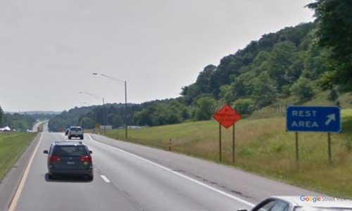 wv interstate 64 west virginia i64 hurricane rest area mile marker 35 westbound off ramp exit