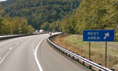 wv interstate 64 west virginia i64 whittaker rest area mile marker 69 eastbound off ramp exit