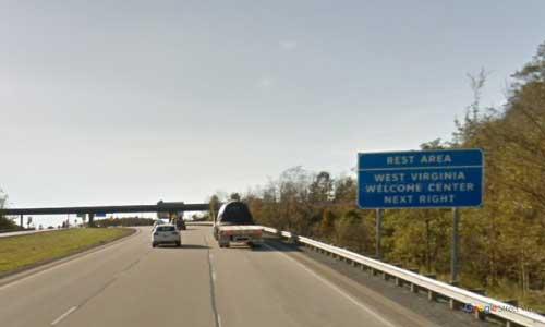 wv interstate 68 west virginia i68 hazleton welcome center mile marker 30 westbound off ramp exit
