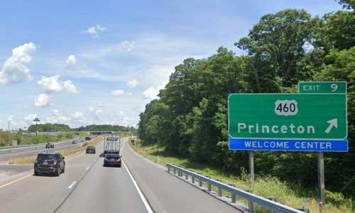 wv interstate 77 west virginia i77 princeton welcome-center mile marker 9 northbound off ramp exit