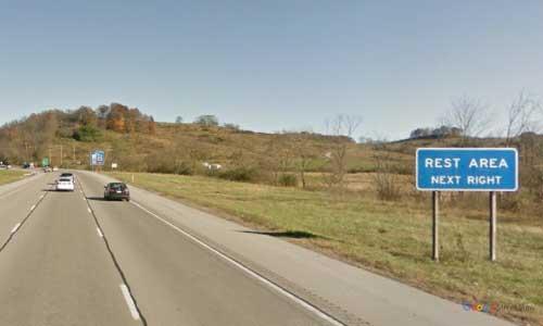 wv interstate 79 west virginia i79 bridgeport rest area mile marker 123 northbound off ramp exit