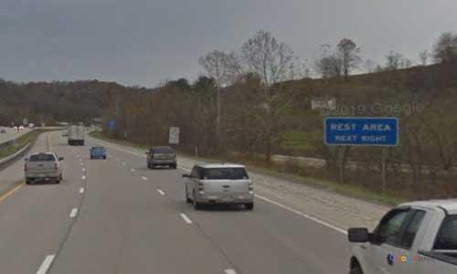 wv interstate 79 west virginia i79 bridgeport rest area mile marker 123 southbound off ramp exit