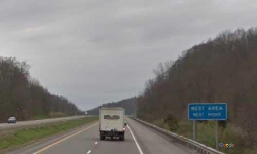 wv interstate 79 west virginia i79 clem rest area mile marker 48 northbound off ramp exit