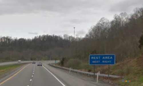 wv interstate 79 west virginia i79 clem rest area mile marker 48 southbound off ramp exit