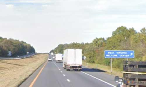 wv interstate 81 west virginia i81 inwood welcome center mile marker 1 northbound off ramp exit